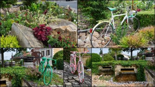 2014-07-11 décos vélos Bergerac,Mne Peyrichou,tournesols,passerelle Lalinde1.jpg