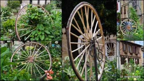 2014-07-11 décos vélos Bergerac,Mne Peyrichou,tournesols,passerelle Lalinde2.jpg