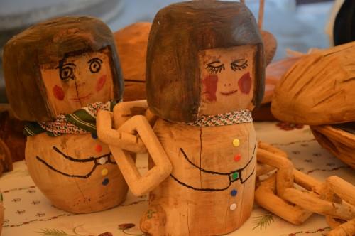 fête de l'arbre,sculptures,chêvre angora