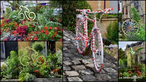 2014-07-11 décos vélos Bergerac,Mne Peyrichou,tournesols,passerelle Lalinde5.jpg