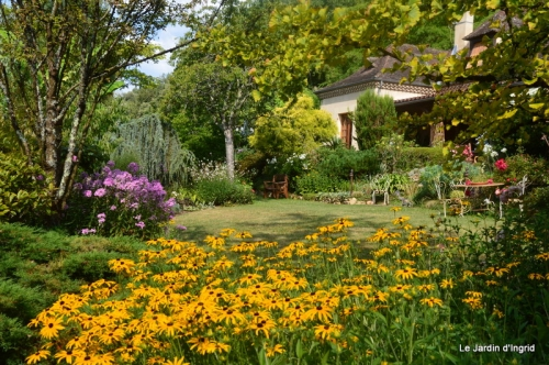 bouquet bleu,kakis,cage,Banes, jardin juillet 040.JPG